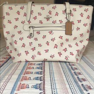 Floral and white Coach handbag
